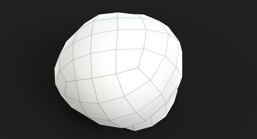 Puffball-Pilz royalty-free 3d model - Preview no. 12