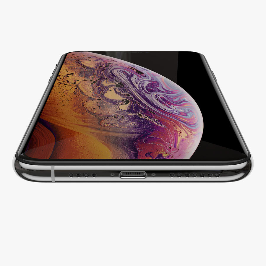 Apple iPhone Xs and Xs Max (all colours) royalty-free 3d model - Preview no. 18
