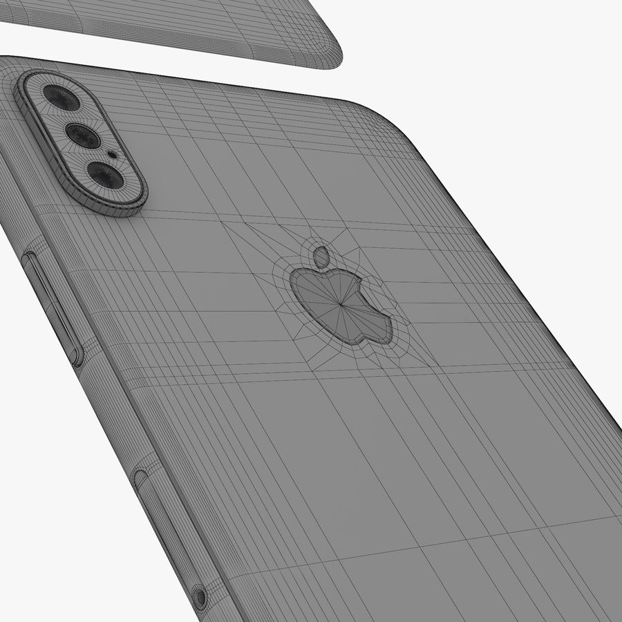 Apple iPhone Xs and Xs Max (all colours) royalty-free 3d model - Preview no. 36