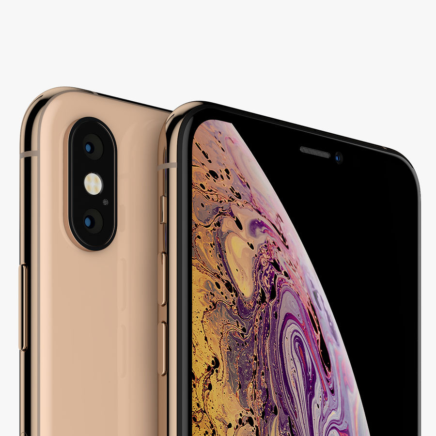 Apple iPhone Xs and Xs Max (all colours) royalty-free 3d model - Preview no. 13