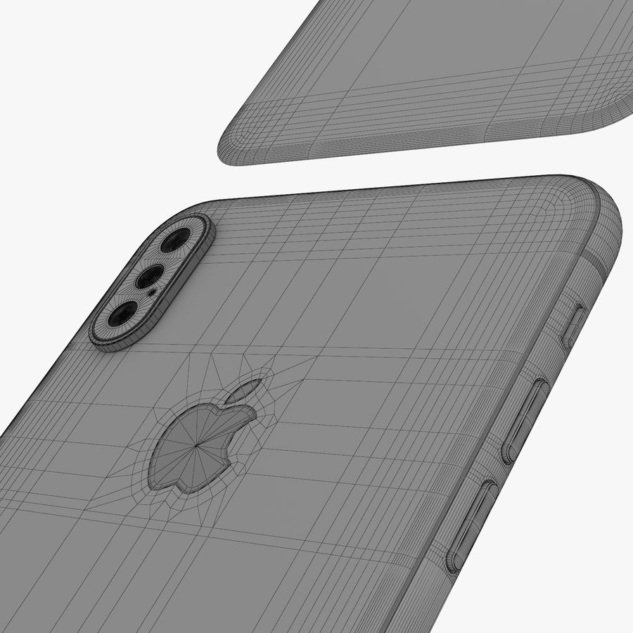 Apple iPhone Xs and Xs Max (all colours) royalty-free 3d model - Preview no. 35