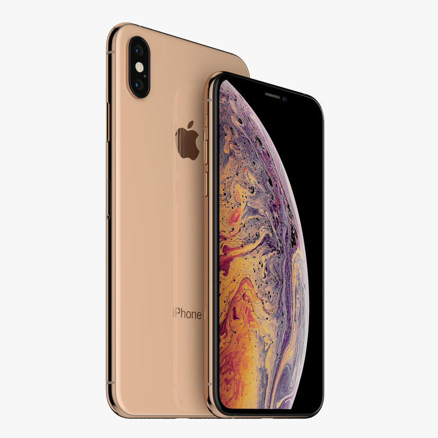 Apple iPhone Xs and Xs Max (all colours) royalty-free 3d model - Preview no. 11