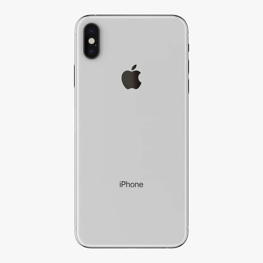 Apple iPhone Xs and Xs Max (all colours) royalty-free 3d model - Preview no. 17