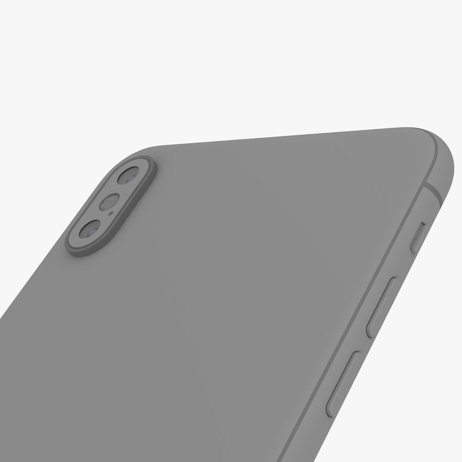 Apple iPhone Xs and Xs Max (all colours) royalty-free 3d model - Preview no. 29