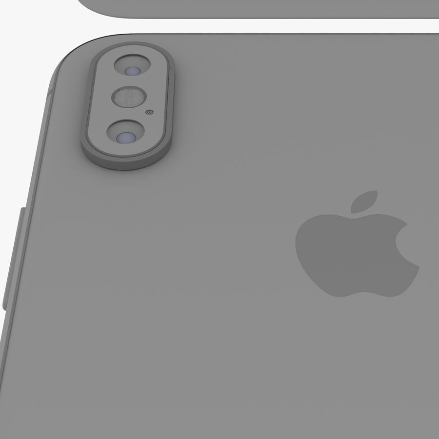 Apple iPhone Xs和Xs Max所有颜色 royalty-free 3d model - Preview no. 28
