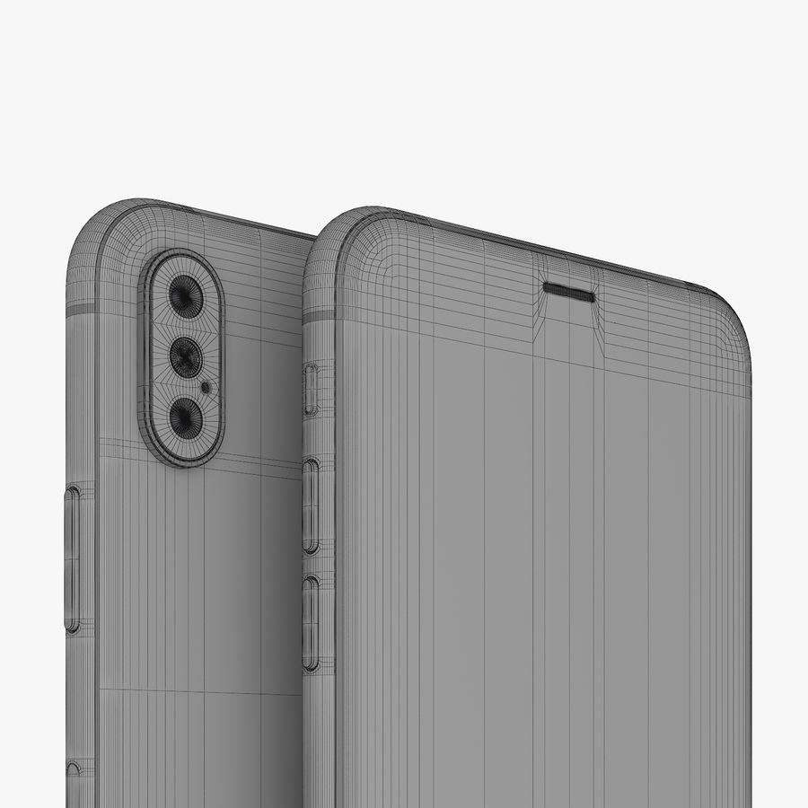 Apple iPhone Xs and Xs Max (all colours) royalty-free 3d model - Preview no. 31