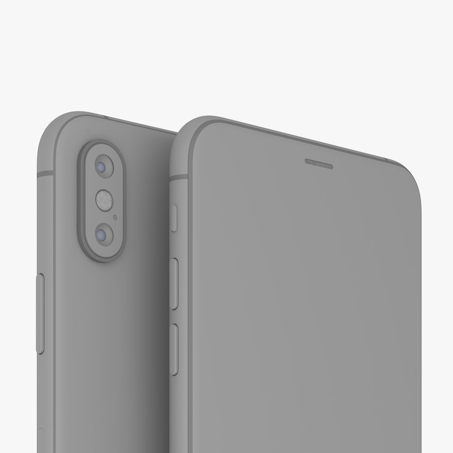 Apple iPhone Xs and Xs Max (all colours) royalty-free 3d model - Preview no. 24