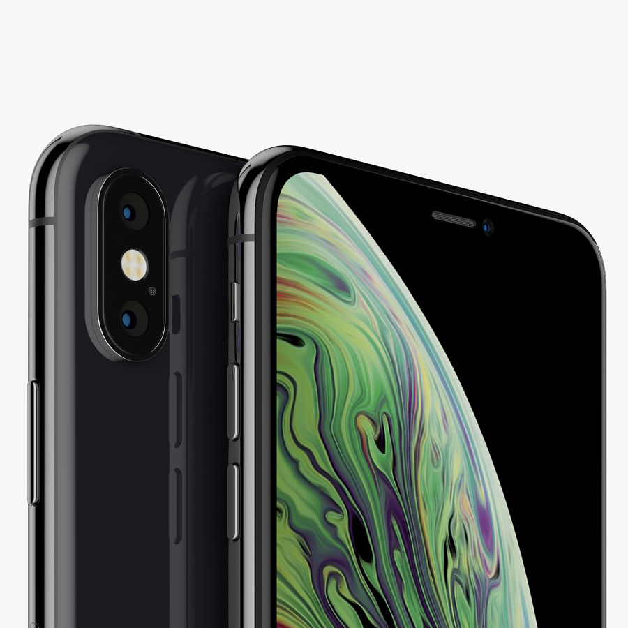 Apple iPhone Xs and Xs Max (all colours) royalty-free 3d model - Preview no. 15