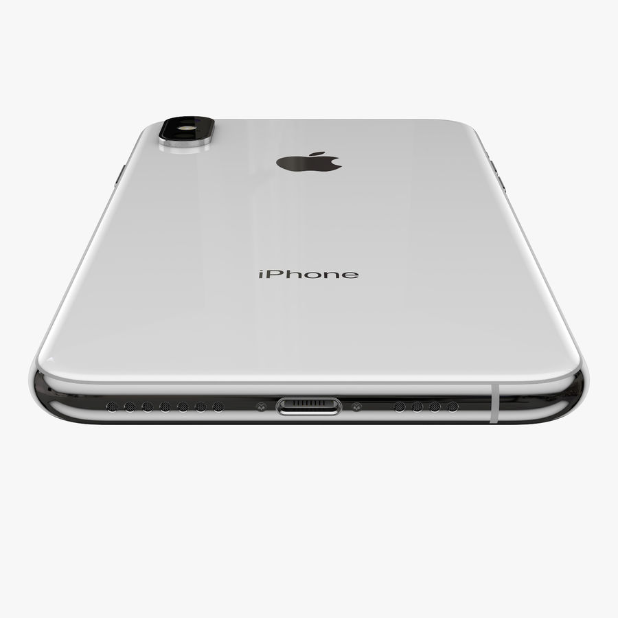 Apple iPhone Xs and Xs Max (all colours) royalty-free 3d model - Preview no. 19