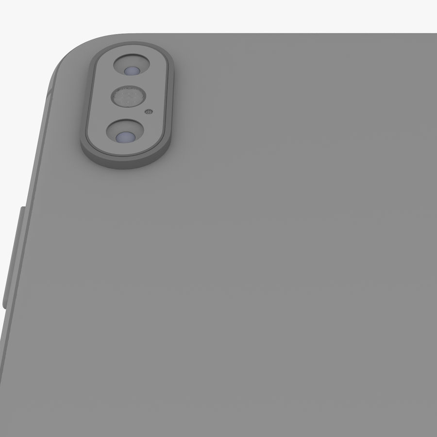 Apple iPhone Xs and Xs Max (all colours) royalty-free 3d model - Preview no. 27