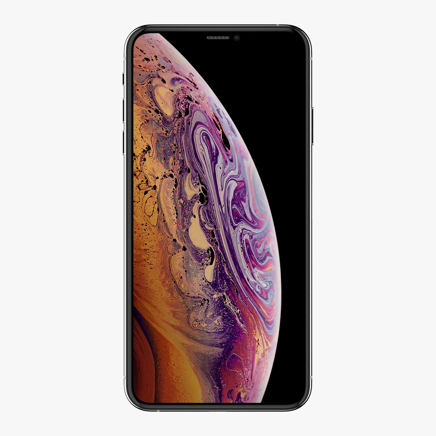 Apple iPhone Xs and Xs Max (all colours) royalty-free 3d model - Preview no. 16