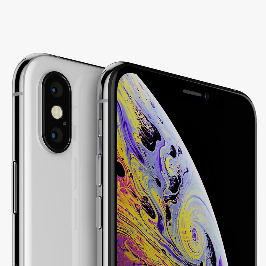 Apple iPhone Xs and Xs Max (all colours) royalty-free 3d model - Preview no. 14