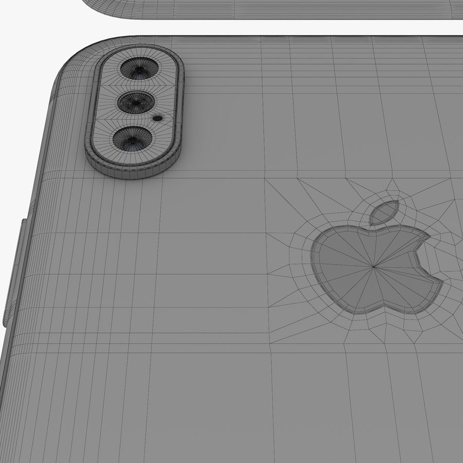 Apple iPhone Xs and Xs Max (all colours) royalty-free 3d model - Preview no. 34