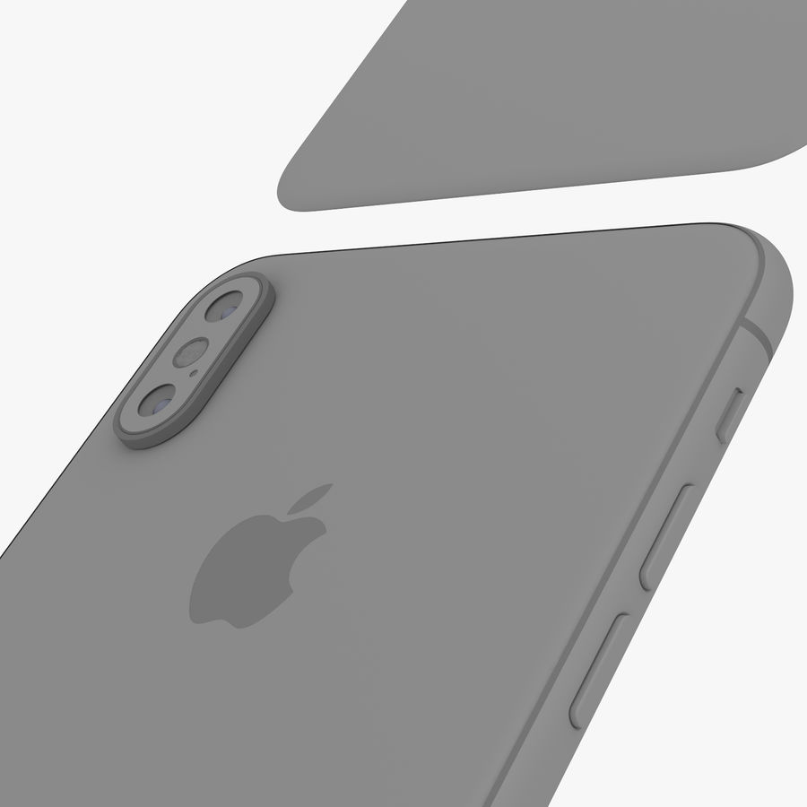 Apple iPhone Xs and Xs Max (all colours) royalty-free 3d model - Preview no. 30