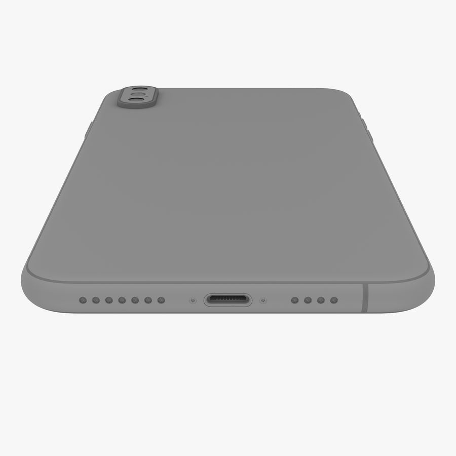 Apple iPhone Xs and Xs Max (all colours) royalty-free 3d model - Preview no. 25
