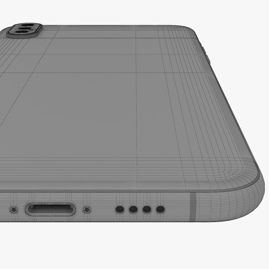 Apple iPhone Xs and Xs Max (all colours) royalty-free 3d model - Preview no. 32