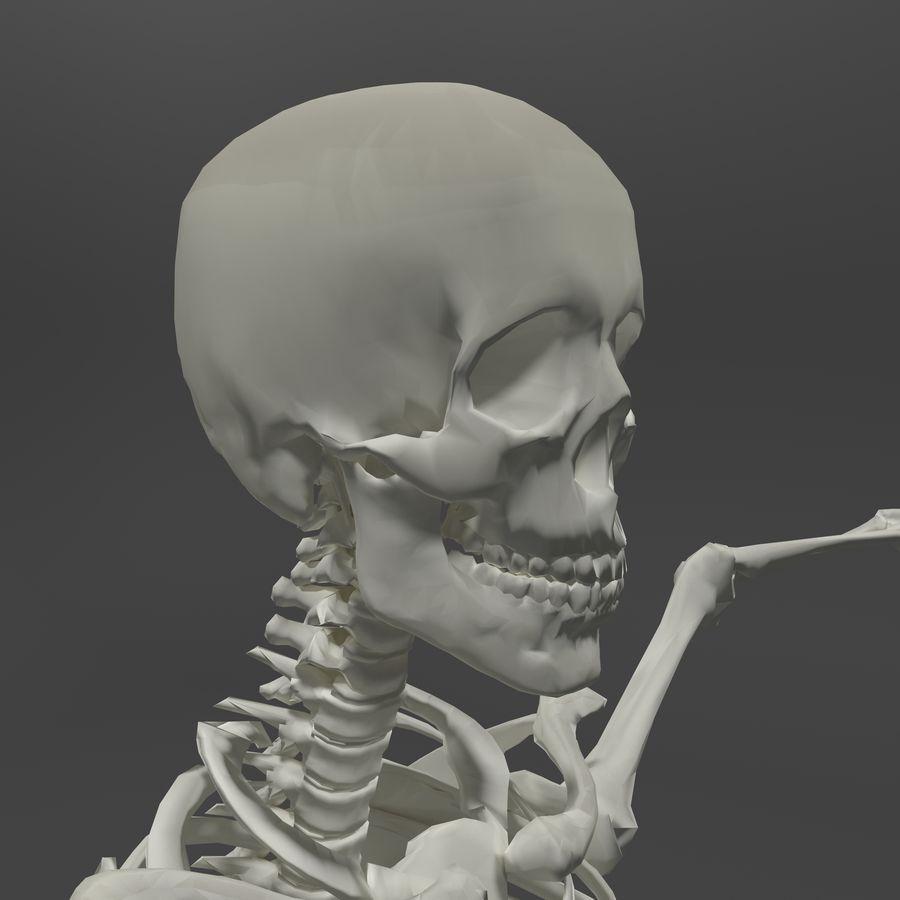 Szkielet człowieka royalty-free 3d model - Preview no. 6