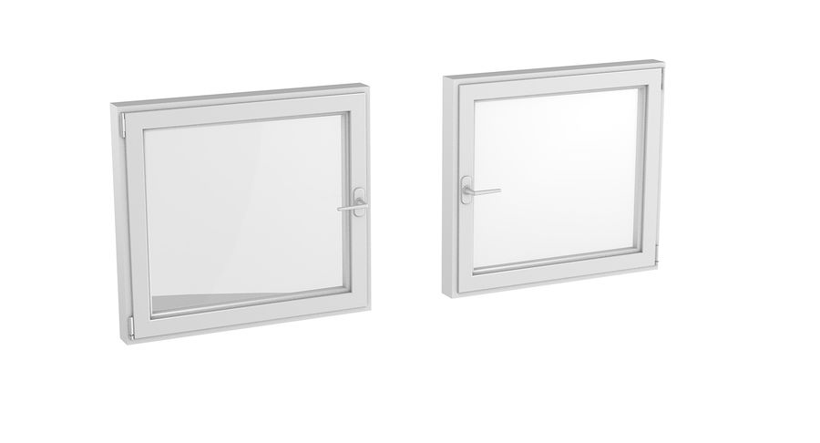 Fenêtre en PVC 100x90 royalty-free 3d model - Preview no. 4