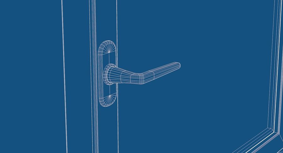 Fenêtre en PVC 100x90 royalty-free 3d model - Preview no. 8