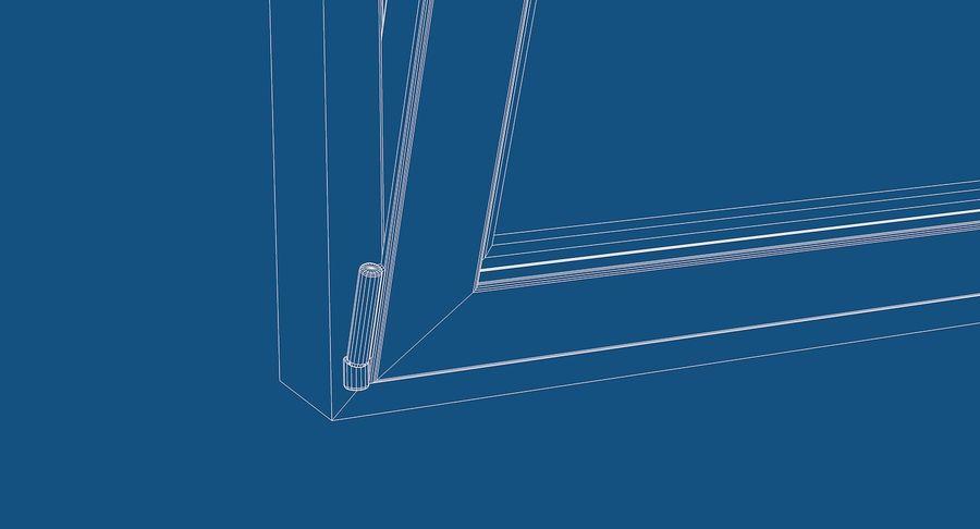 Fenêtre en PVC 100x90 royalty-free 3d model - Preview no. 7