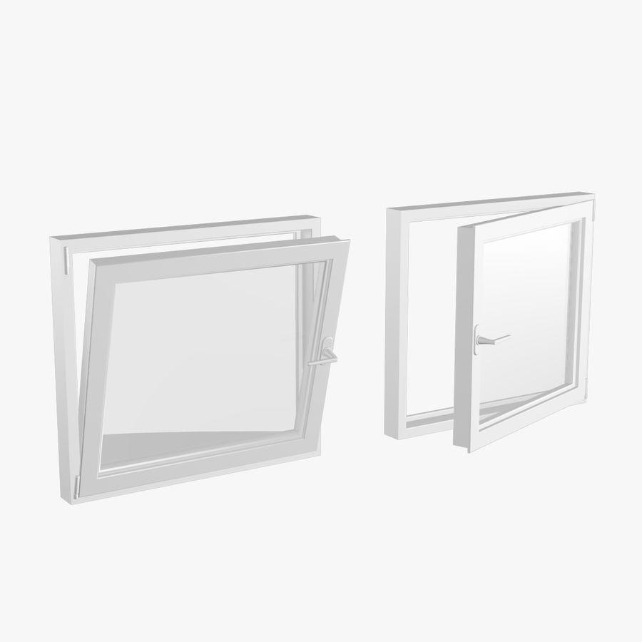 Fenêtre en PVC 100x90 royalty-free 3d model - Preview no. 1