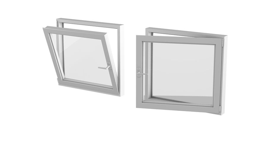 Fenêtre en PVC 100x90 royalty-free 3d model - Preview no. 3