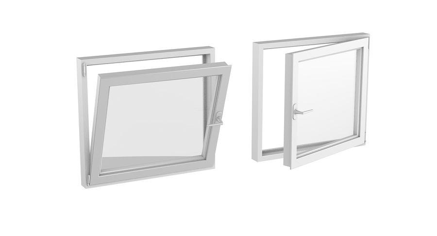 Fenêtre en PVC 100x90 royalty-free 3d model - Preview no. 2