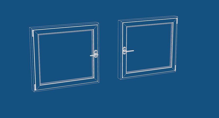 Fenêtre en PVC 100x90 royalty-free 3d model - Preview no. 5