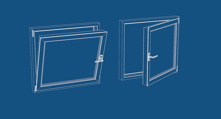 Fenêtre en PVC 100x90 royalty-free 3d model - Preview no. 6