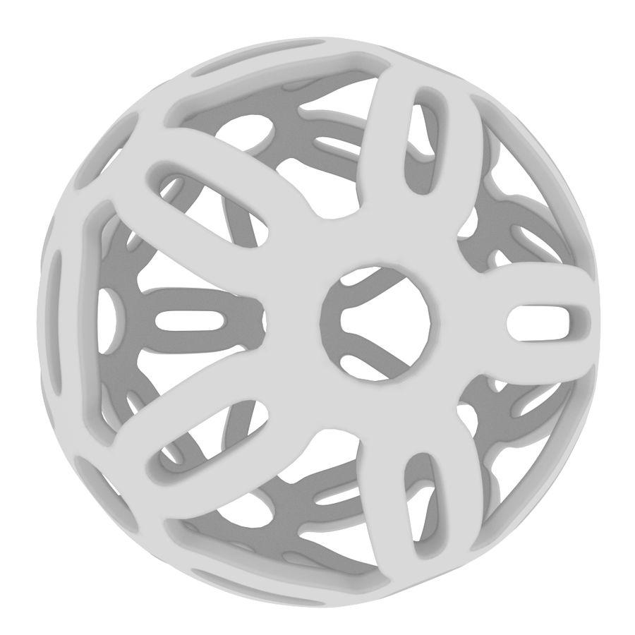 Geometria dekoracyjna dodekaedrowa piłka dekoracyjna royalty-free 3d model - Preview no. 4