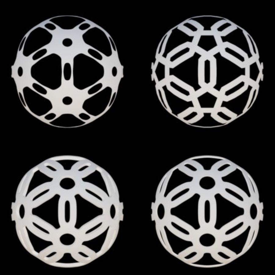 Geometria dekoracyjna dodekaedrowa piłka dekoracyjna royalty-free 3d model - Preview no. 13