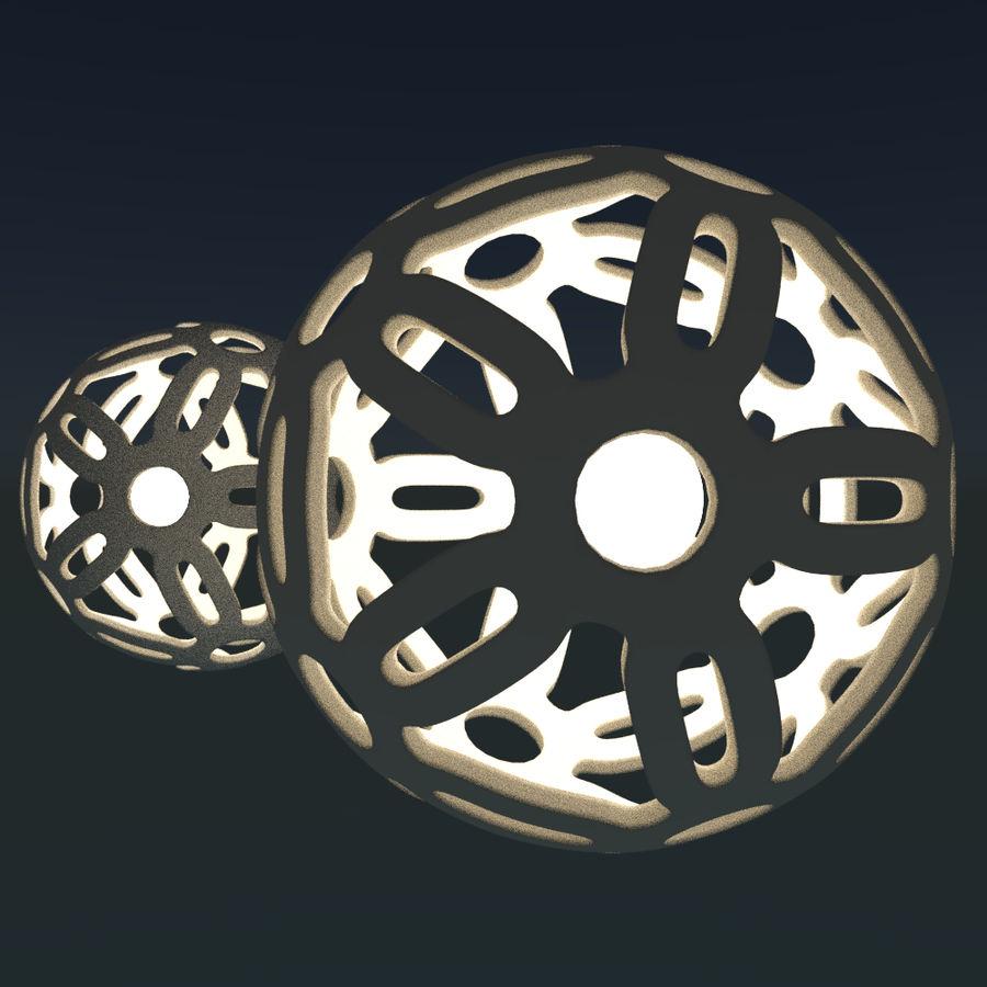 Geometria dekoracyjna dodekaedrowa piłka dekoracyjna royalty-free 3d model - Preview no. 10