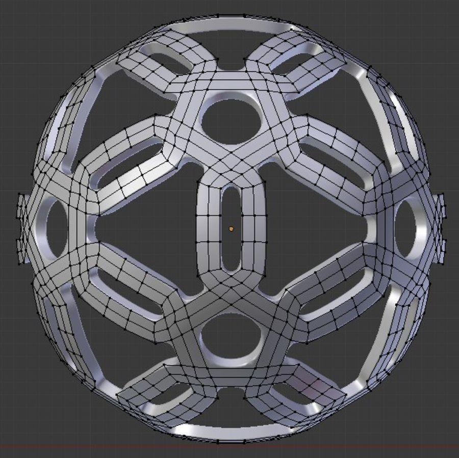 Geometria dekoracyjna dodekaedrowa piłka dekoracyjna royalty-free 3d model - Preview no. 7