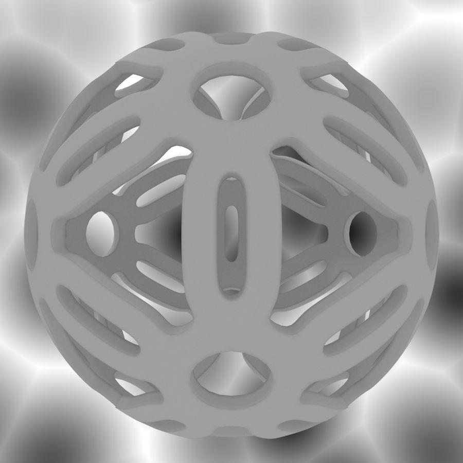 Geometria dekoracyjna dodekaedrowa piłka dekoracyjna royalty-free 3d model - Preview no. 12