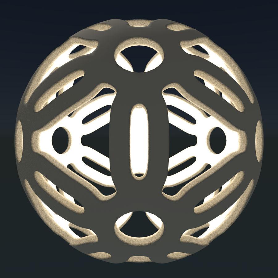 Geometria dekoracyjna dodekaedrowa piłka dekoracyjna royalty-free 3d model - Preview no. 11