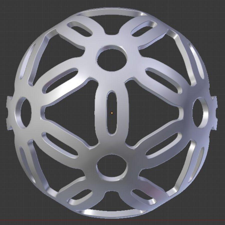 Geometria dekoracyjna dodekaedrowa piłka dekoracyjna royalty-free 3d model - Preview no. 6