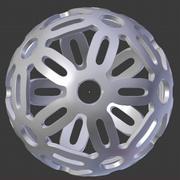 Dodekaeder Deko geometrische Dekor Kugel 3d model