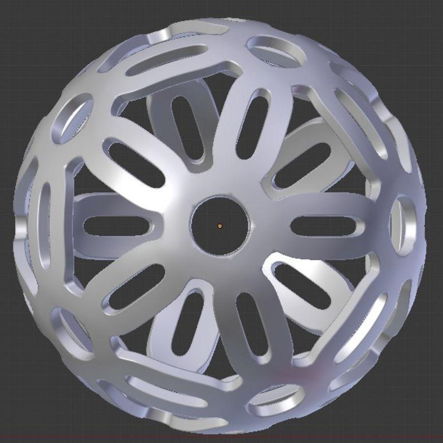 Geometria dekoracyjna dodekaedrowa piłka dekoracyjna royalty-free 3d model - Preview no. 1