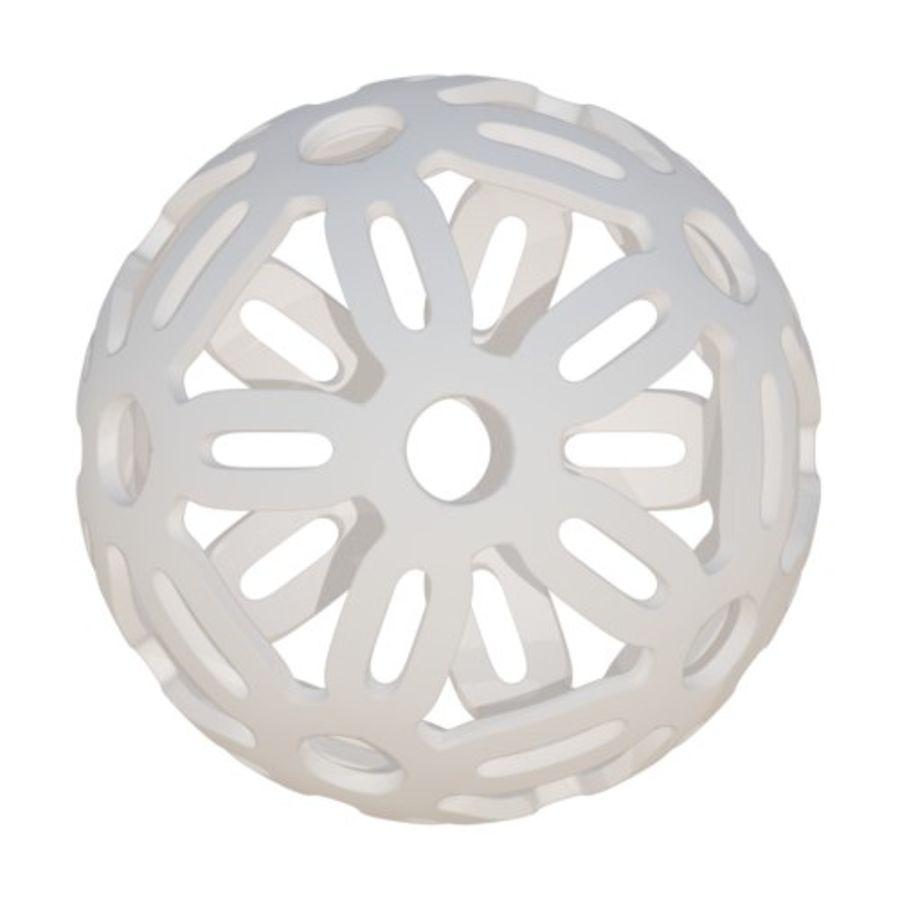 Geometria dekoracyjna dodekaedrowa piłka dekoracyjna royalty-free 3d model - Preview no. 2