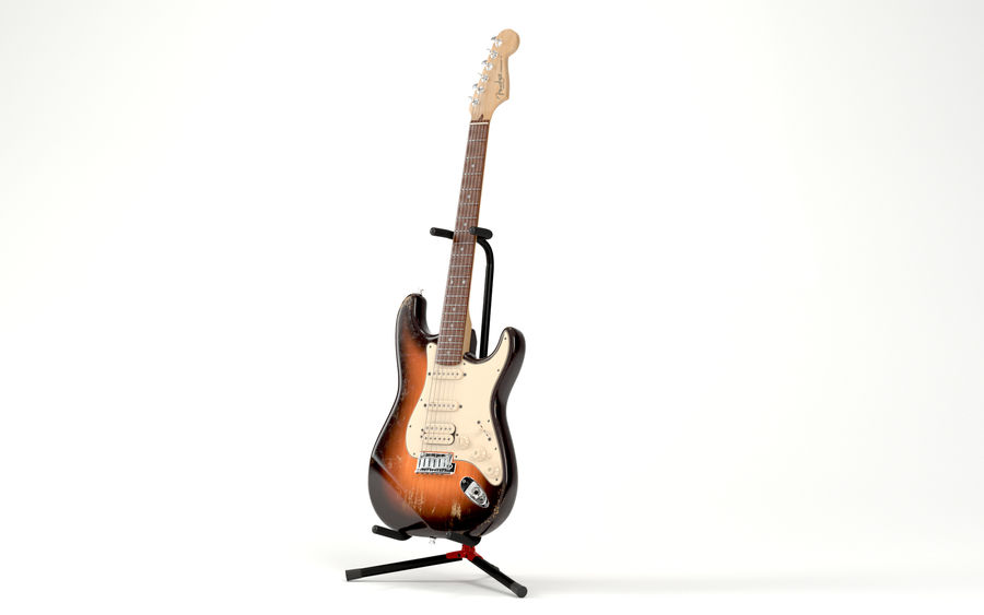 펜더 조절 기타 스탠드 royalty-free 3d model - Preview no. 7