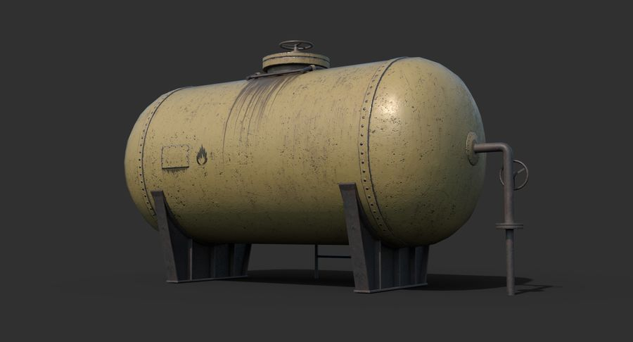 Oil Tank Containers Low Poly royalty-free 3d model - Preview no. 7