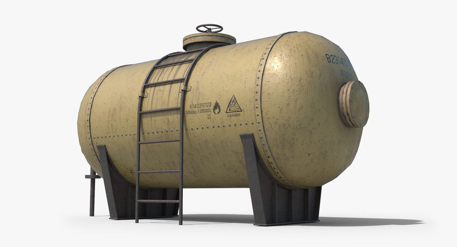 Oil Tank Containers Low Poly royalty-free 3d model - Preview no. 9