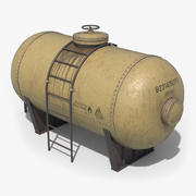 Oil Tank Containers Low Poly 3d model