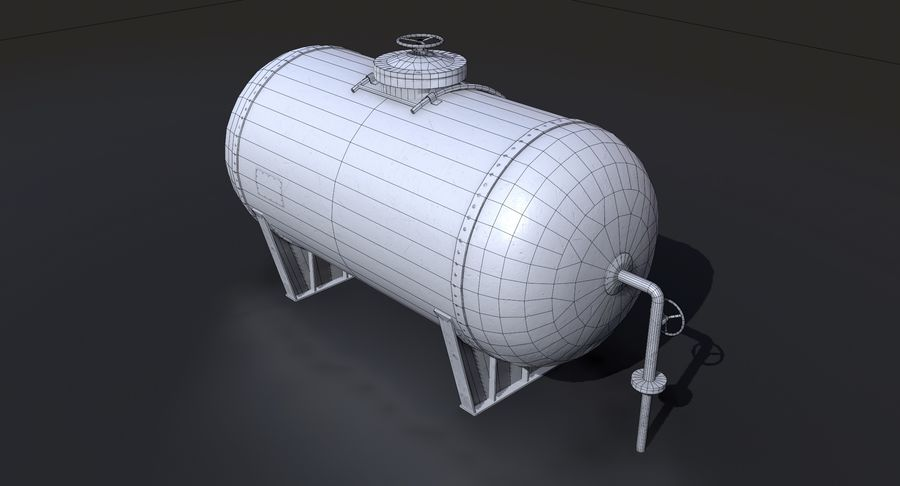 Oil Tank Containers Low Poly royalty-free 3d model - Preview no. 15