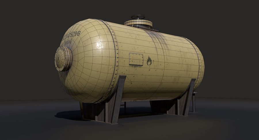 Oil Tank Containers Low Poly royalty-free 3d model - Preview no. 12