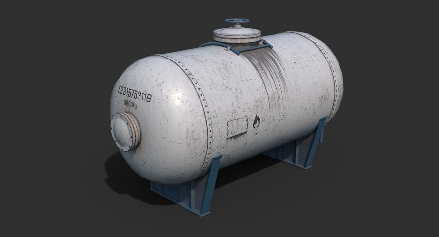 Oil Tank Containers Low Poly royalty-free 3d model - Preview no. 4