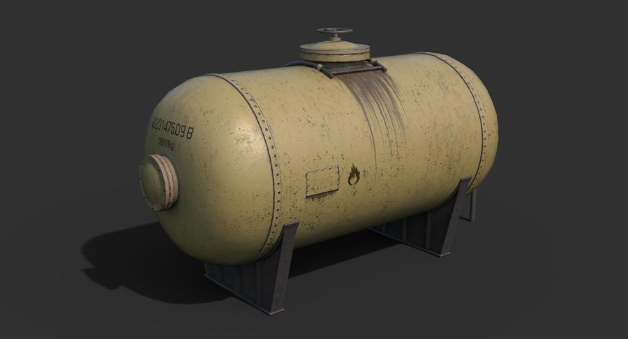 Oil Tank Containers Low Poly royalty-free 3d model - Preview no. 8