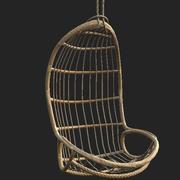 Asma Sandalye 2 Düşük Poli 3d model