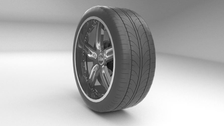 Custom rim royalty-free 3d model - Preview no. 4