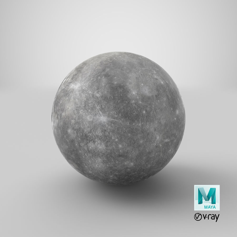 Mercury royalty-free 3d model - Preview no. 13